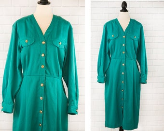 1990s Danny & Nicole New York Trench Long-Sleeved Dress