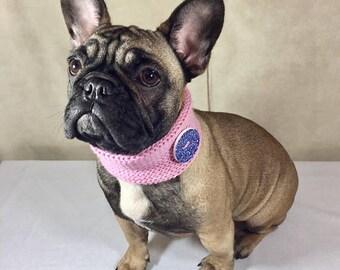 French bulldog - Dog collar - Girl dog collar - Dog scarf - Dog clothes - Boho - Bohemian - Bandana - Dog bandana - Dog gift - Dog - Dogs