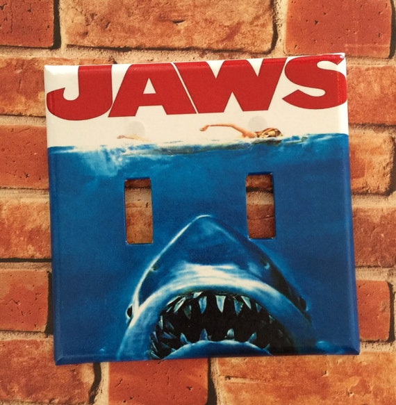JAWS Movie Poster Light Switch Cover Plate Home Room Decor