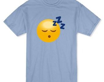 Sleeping Face Zzz Medium Front Emoji Men's T-shirt