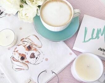 Polka Dog Tea Towel