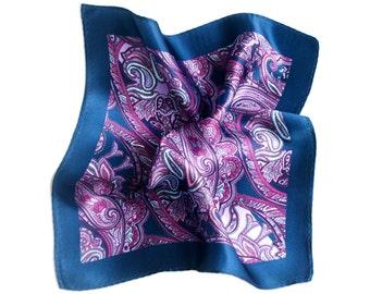 Silk Pocket Square Fiery Flamenco