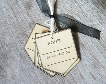 set of 10 french 140 g and Twine kraft paper gift cotton