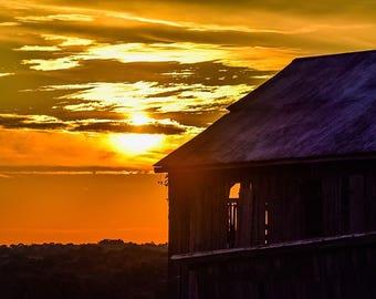 Barn Sunset Photo
