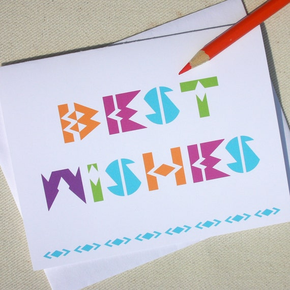 Wedding card best wishes greeting card by oh geez design m4hsunfo