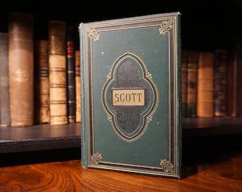 1884 Poetical Works of Sir Walter Scott (Antique Poetry Book)