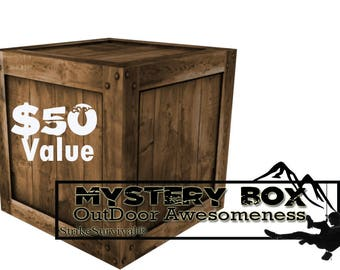 Mystery box 50 dollars worth for survival and outdoors