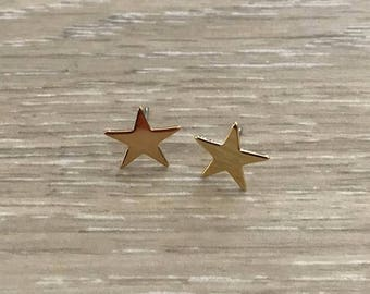 Gold Star Earrings, Gold Earring, Dainty Earring, Gold Studs