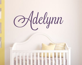 Name Wall Decal Girls // Girl Name Wall Decal  // Girls Name Decal // Wall Decal // Girl Bedroom Decal // Girl Name Wall Decor