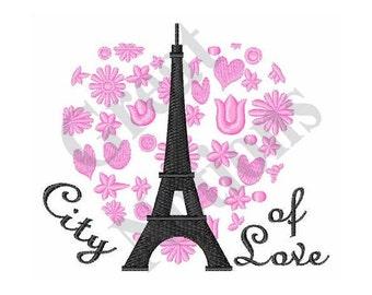 City Of Love - Machine Embroidery Design