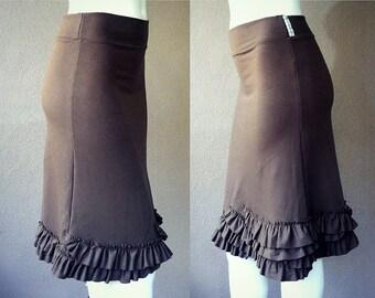 Organic cotton skirt, short skirt, day skirt, handmade skirt, organic cotton clothes, skirt with ruffles.