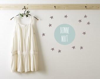 Bonne Nuit Wall Decals - Bonne Nuit Nursery Wall Decals