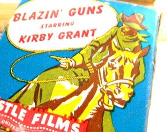 Vintage 16 mm Castle Films Blazin' Guns Starring Kirby Grant United World Films Movie Hollywood Western