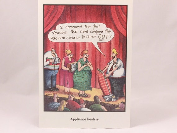 Vintage 1986 Gary Larson Far Side Greeting Card And Envelope