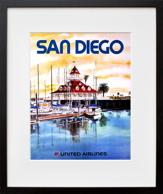 San Diego Poster Art Travel California Home Decor Print TR69