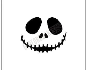 Jack Skellington Stencil # 2 / Cookie Stencil / Nightmare Before Christmas