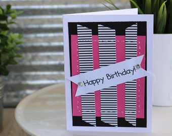 Happy Birthday-Happy Birthday Greeting Card, Handmade Card
