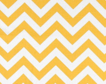 Yellow Chevron Fabric by the Yard Premier Prints Zigzag Corn Yellow White Home Decor Upholstery slub cotton 1 yard or more  SHIPsFAST