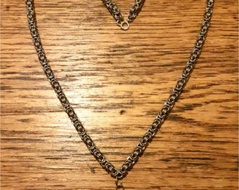 Byzantine Chainmaille Stainless Steel Necklace