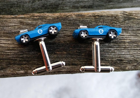 Car Cufflinks. Blue Charger. Wedding, Groom, Groomsmen Gift, Dad, Anniversary, Birthday.