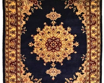 Persian Kashaan Hand Knotted Silk Wool Rug