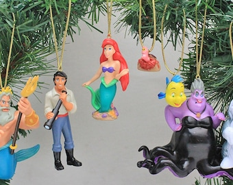 Disney's The Little Mermaid Ornament Set- (7) PVC Figure Ornaments Included - Limited Availability
