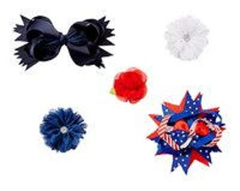 USA Themed Hair Clip Set