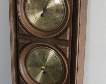 Springfield wall weather station/ Thermometer, Hygrometer, and Barometer instruments.