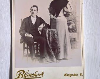 Fanciest Twins Antique Photograph Cabinet Card --- Victorian Edwardian Era Siblings Home Decor --- Vintage Memories Ancestors Ghost Style