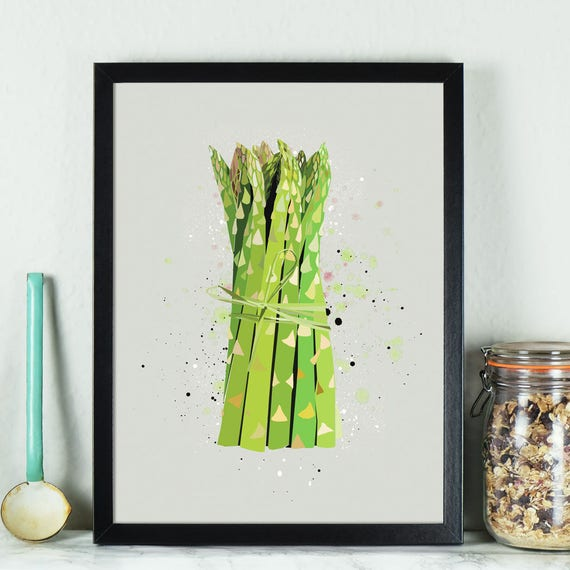 Kitchen Print Asparagus kitchen prints art prints