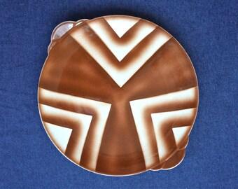 Bunzlau cake plate // art deco