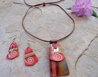 Eco friendly Necklace, Hand Carved Necklace Set, Gourd Necklace, Gourd Jewelry, Eco Jewelry, Jewelry Sets, Gourd art