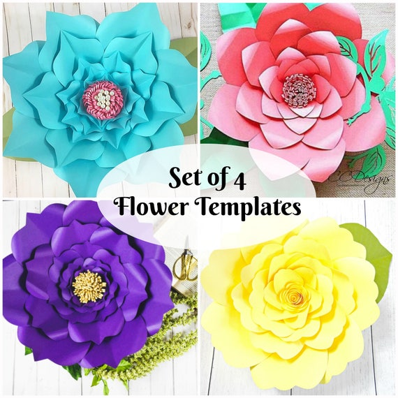 Easy flower paper cutting patterns kubreforic easy mightylinksfo
