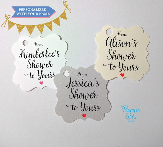 from my shower to yours tags personalized favor tag bridal shower tags gift tags