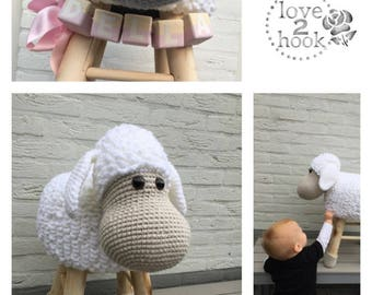 Animal Stool Sheep Crochet