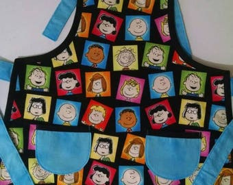 Boys Apron Charlie Brown Apron Boys Apron with Pockets