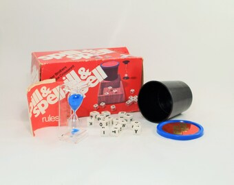 Vintage Spill and Spell Game Parker Brothers, Spill and Spell