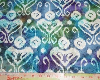 Flannel Batik Trellis Floral  Cotton Quilt Fabric  Low Loft QuiltersBy the  Yard