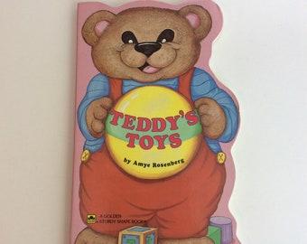 Vintage Children's Book, Teddy's Toys