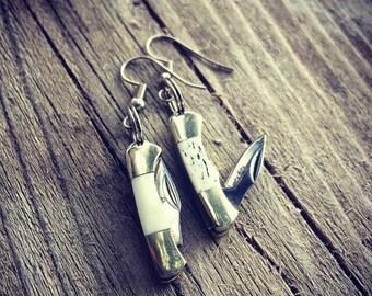 Mini Pocket Knife Earrings - Hook Earrings