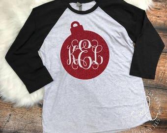 Believe Christmas Raglan 3/4 quarter sleeve soft shirt. Chrismas shirt. Santa. vfoxb4D