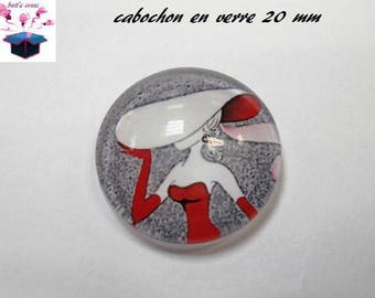 1 cabochon clear 20mm trendy modern theme
