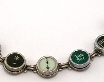 Antique Typewriter Key Bracelet - Random Keys