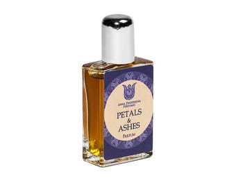 Petals&Ashes  - Natural perfume,  white floral bitter-sweet with yuzu, neroli, rose, jasmine, mitti attar and agarwood attar  Flacon