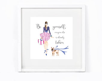 Fashion Illustration - Fashion Illustration Printable - Instagram Graphic  - Fashion Quote - Social Media Graphic - Fashion Wall Decor