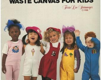 Cross Stitch Pattern Leaflet – Funwear – Leisure Arts Leaflet 589 – Waste Canvas For Kids – 10 Designs