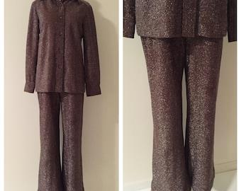 1970s Vintage Shimmer Disco Suit