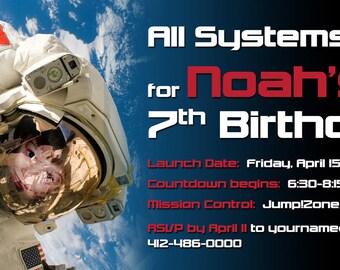 Space, NASA, Astronaut Birthday Invitation - Printable