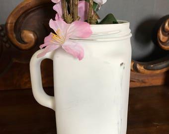Vase, distressed vase, rustic vase, recycle, repurpose, reuse