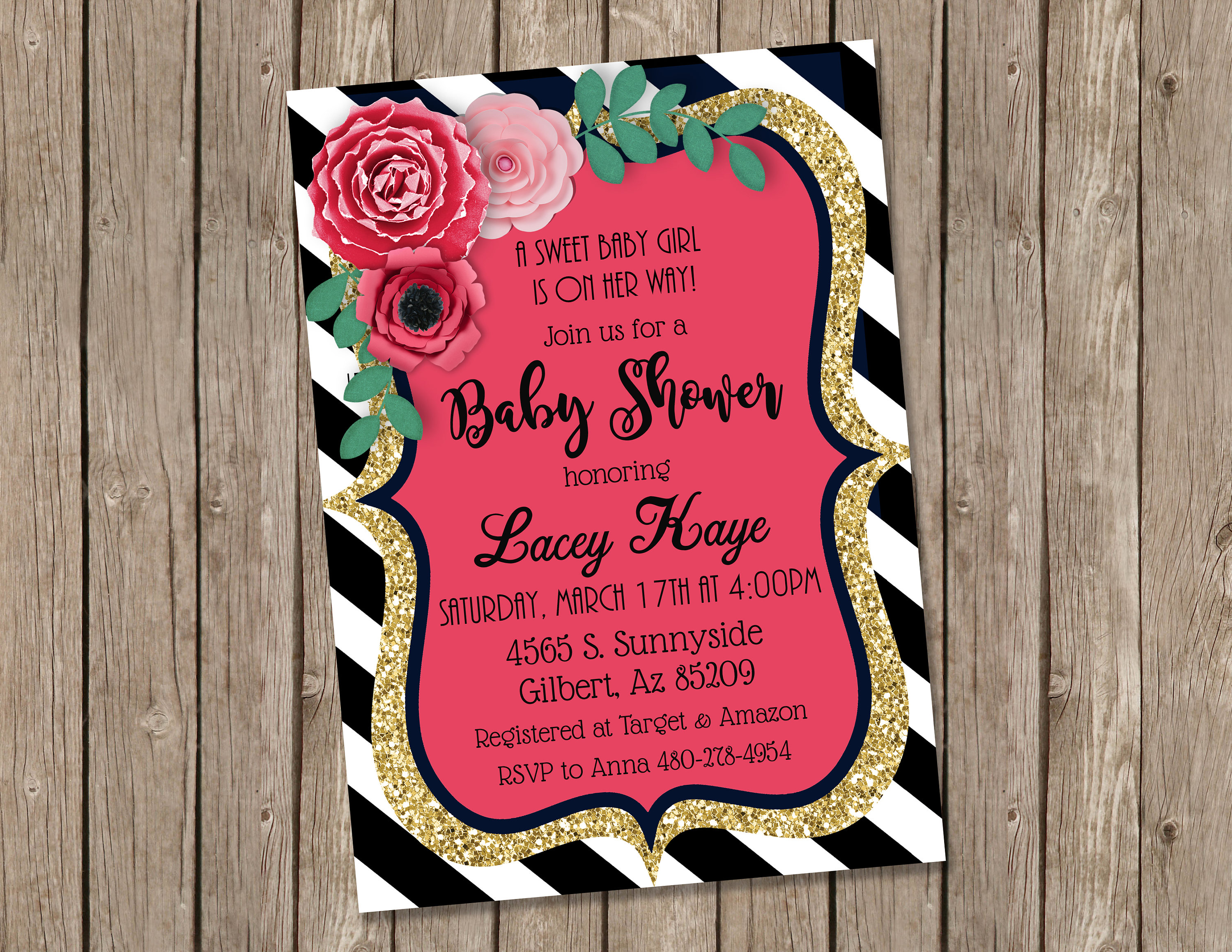 Amazing Baby Shower Invitation Paper Gallery - Invitations and ...